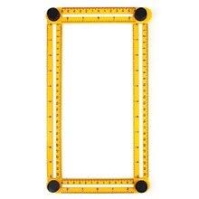 פרסומת שליט ארבעת הקפל סרגל שליט מתקפל Slide פלסטיק RulerAffordable זווית רב מדידת סרגל, מדידה כללית