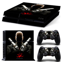 For PS4 Vinyl Skin Hitman Agent 47 Controller & Console Sticker Protective