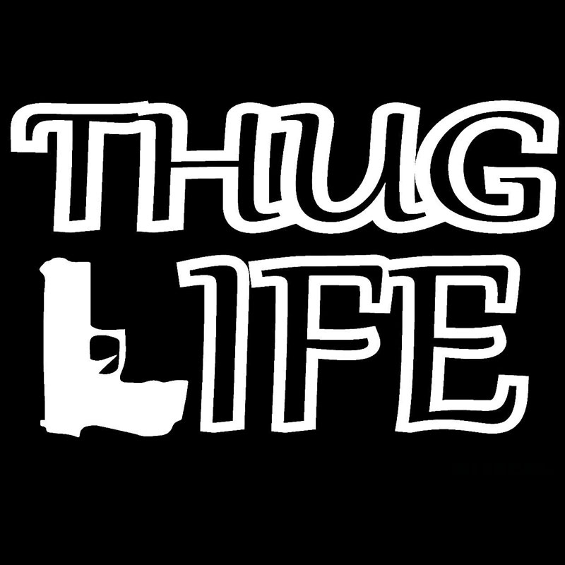 17 8cm10 8cm thug life jdm funny vinyl car sticker cartoon reflective car styling motorcycle accessories black sliver c8 1154 in car stickers from