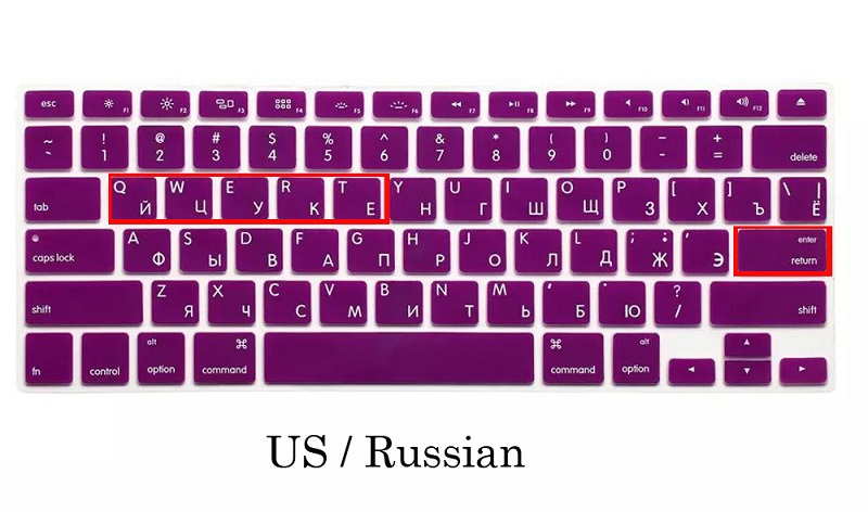 EU US Soft Silicon For Macbook A1466 Keyboard Cover Russian Language Cover For Macbook Retina13 Keyboard Cover (9)