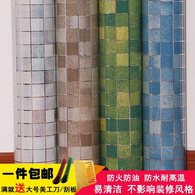 Geom trica vinilo autoadhesivo papel pintado pared rollo de papel para muebles de cocina muebles - Rollos adhesivos para muebles ...