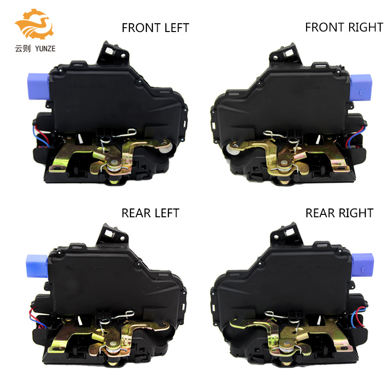 4 SIDES FRONT REAR LEFT RIGHT CENTRAL DOOR LOCK ACTUATOR FOR SKODA FABIA VW POLO 9N VW T5 TRANSPORTER