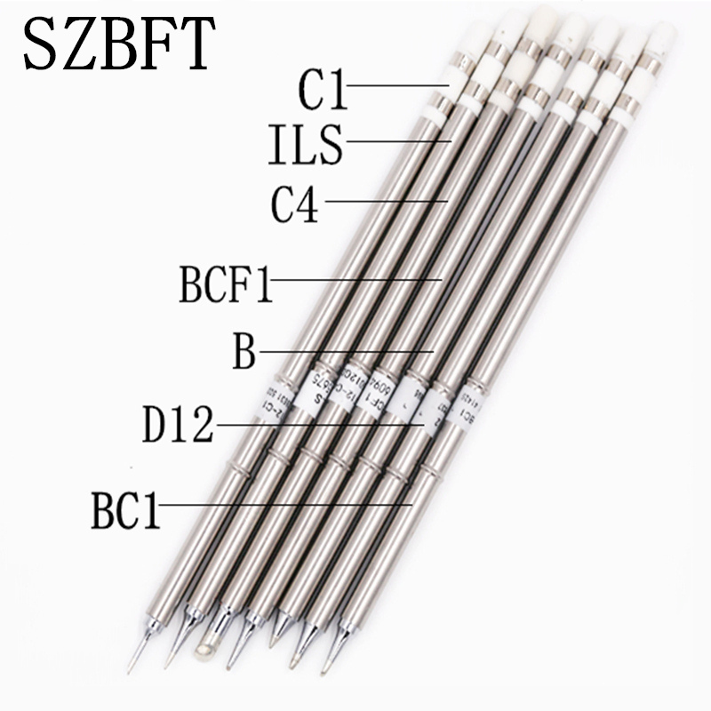 Punte di saldatura SZBFT t12 per hakko T12-ILS C4 BCF1 B D12 BC1 C1 punte di saldatura punte di ferro per FX-950 / FX-951 spedizione gratuita