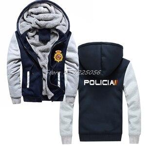 Image 4 - Espana Policia ספרד לאומי משטרת Espana Policia נים מהומות Swat כוחות מיוחדים סווטשירט גברים כותנה לשמור על מעילים חמים