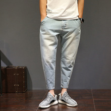 Большой размер 28-42 мода hip hop эластичный свободные джинсы мужчины лето повседневная байкер джинсовая человек Хлопок шаровары карандаш Пастухов Hombre