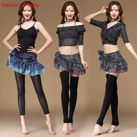 2018 New Belly dance Costume Set Professional Bellydance Tops&Pants&Hip Scarf 3pcs Suits For Women dance wear Practice Clothing