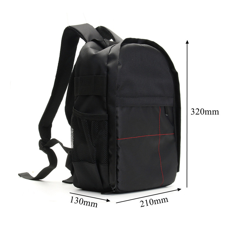 NEW Waterproof Digital DSLR Photo Padded Backpack w/ Rain Cover Laoto Multi-functional Camera Soft Bag Video Case