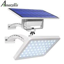 800lm lâmpada solar 48 leds, luz solar para jardim ao ar livre quintal iluminação de segurança com ângulo de iluminação confiável