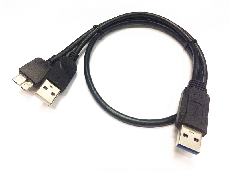 USB 3.0 Dual Power Y Shape 2 X Type a to Micro B Cable for External Hard Drive
