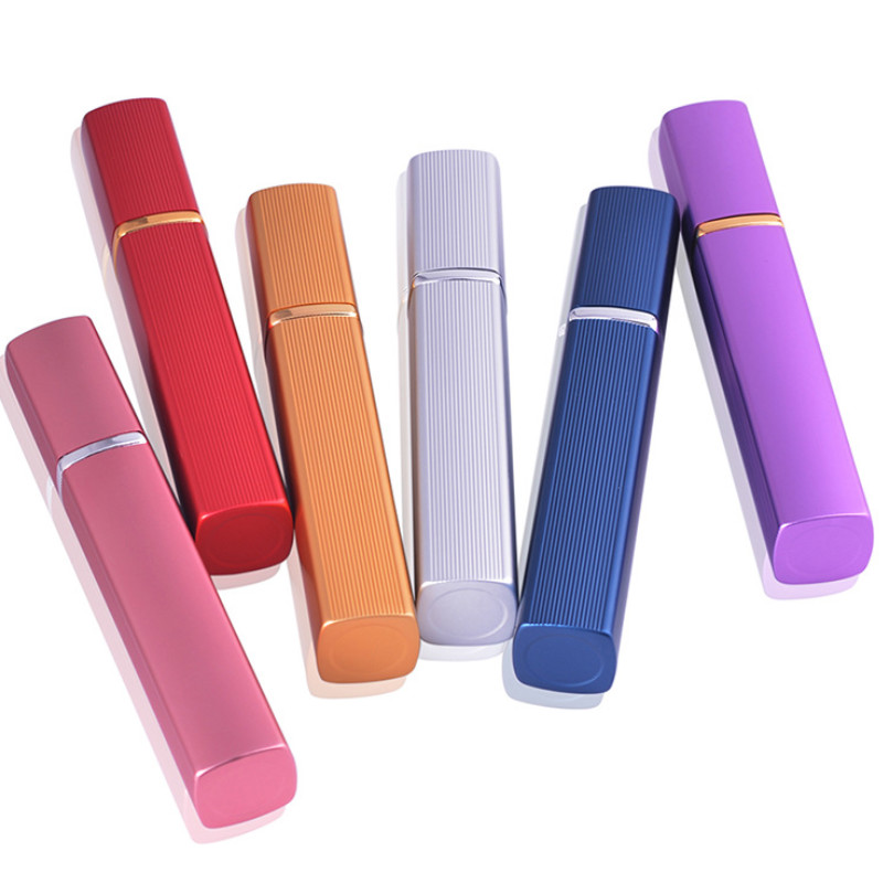 1Pcs 12ml Perfume Bottle Mini Portable Travel Refillable Perfume Atomizer Bottle Nozzle Spray Scent Pump Housing  6 Color Bottle