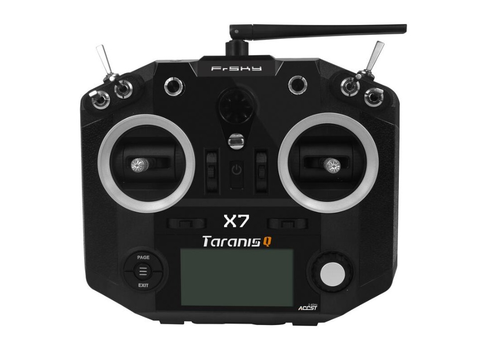 FrSky ACCST Taranis Q X7 QX7 2.4GHz 16CH Transmitter With/O Receiver Mode 2 brand new black white color frsky accst taranis q x7 qx7 2 4ghz 16ch transmitter