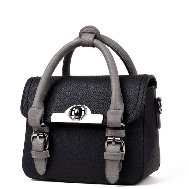 2016 New Fashion Contrast Color Small font b Handbag b font Designer Belt Buckle Flap Bag