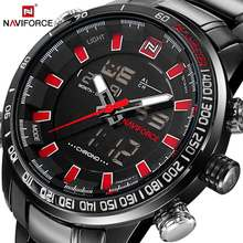 цены NAVIFORCE Mens Quartz Analog Watch Luxury Fashion LED Sport Wristwatch Waterproof Stainless Male Watches Clock Relogio Masculino