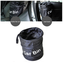 Portable Car Trash Can Foldable Bin Oxford Cloth Leakproof Universal Travel Bag garbage auto accessoires