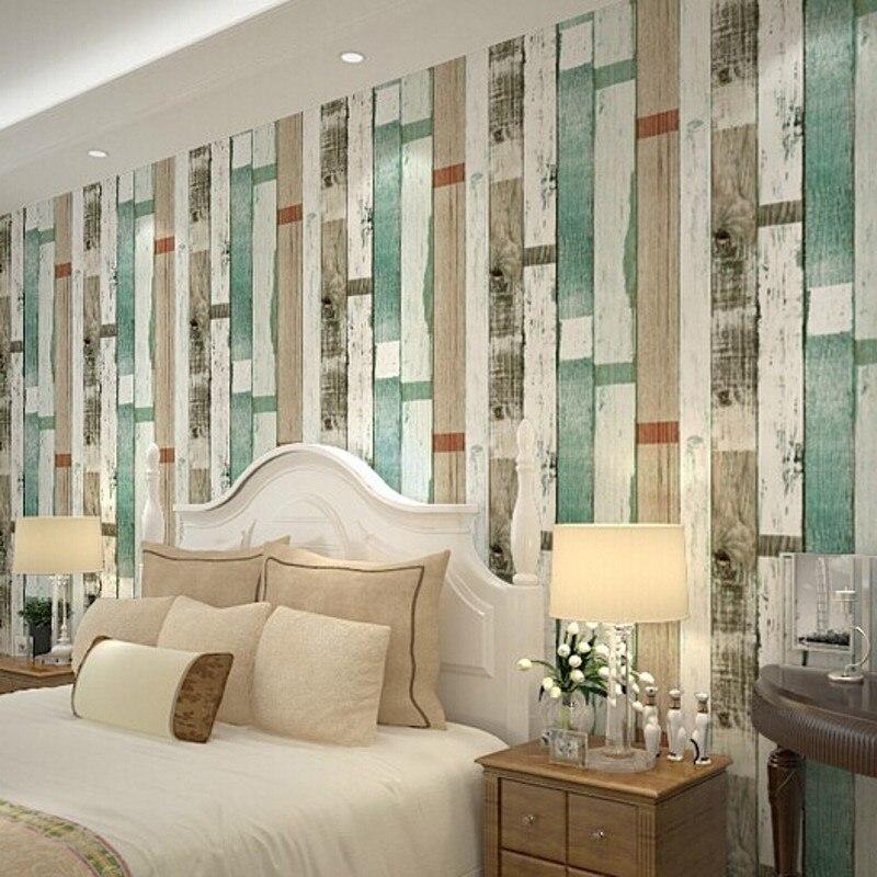 ღ Ƹ̵̡Ӝ̵̨̄Ʒ ღBeibehang papel pintado rústico de madera de desecho ...