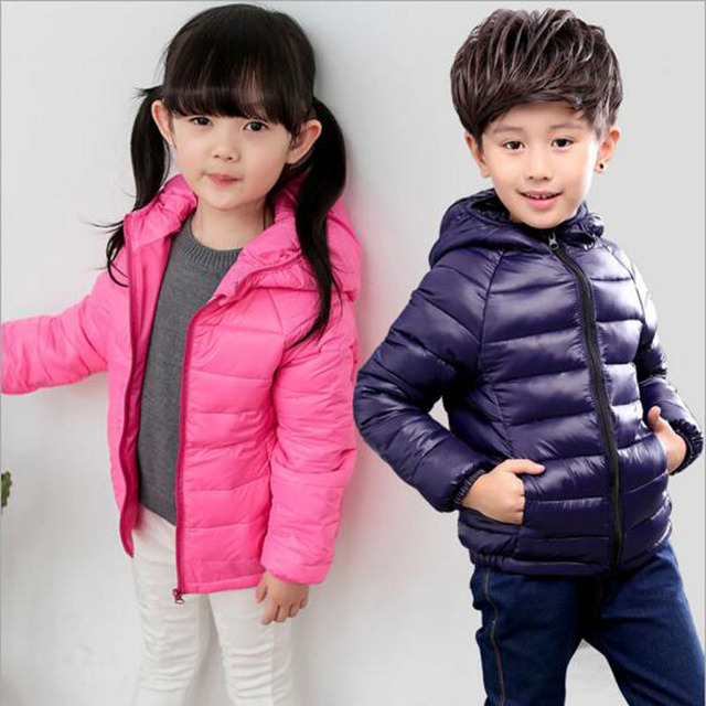 child duck down coat for Winter autumn clothes girls boys Hooded Jackets Baby boys winter outwear kids warmly clothes hotsale