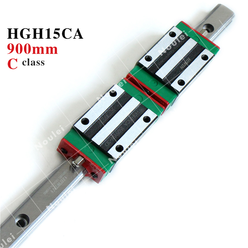 HIWIN 900mm Linear guide rail HGR15 set with HGH15CA slide block for CNC router parts hig quality linear guide 1pcs trh25 length 1200mm linear guide rail 2pcs trh25b linear slide block for cnc part