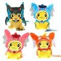 5 Algodón de estilo Animal de Peluche Muñecas Juguetes Para Niños Tv Movie niños Regalos de Navidad juguetes De Peluche Pokemon Pikachu Cosplay Mega Charizard