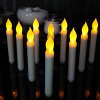 Обширный Применение набор из 12 Пластик ленты лампы головы пламя мерцания светодио дный свечи