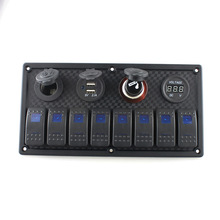 Plastic Combination Switch Panel Driver Rocker for RV Yatch Boat Camper Marine Accessories