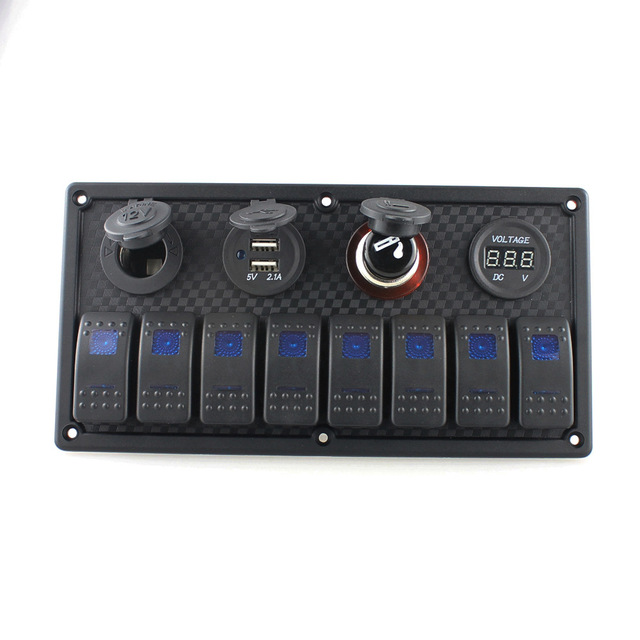 $ 64.35 Plastic Combination Switch Panel Driver Rocker Switch for RV Yatch Boat Camper Marine Boat Accessories