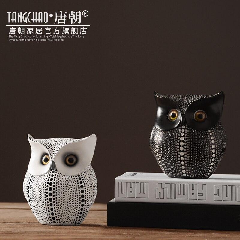 Exellent Owl Office Decor Iron Sculpture O For Ideas