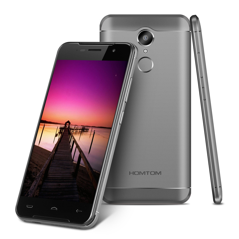 HOMTOM HT37 PRO 5,0 pulgadas Android 7,0 Smartphone MTK6737 1,3 GHz Quad Core 3 GB RAM 32 GB ROM escáner de huellas dactilares Dual cámaras