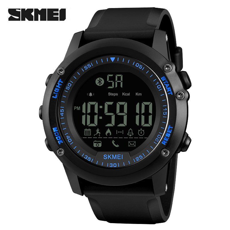 Fashion Smart Watch Wristband SKMEI Brand Pedometer Waterproof Digital Wristwatch Remote Camera Calorie Bluetooth Sports WatchesFashion Smart Watch Wristband SKMEI Brand Pedometer Waterproof Digital Wristwatch Remote Camera Calorie Bluetooth Sports Watches