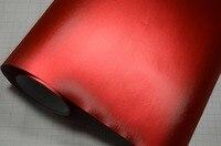 China Droom Premium Metallic 1.52x20 m Rode Kleur Brushed Matte Chrome Vinyl Film Geborsteld Ijs Film Voor Auto Vinyl Wrap Sticker