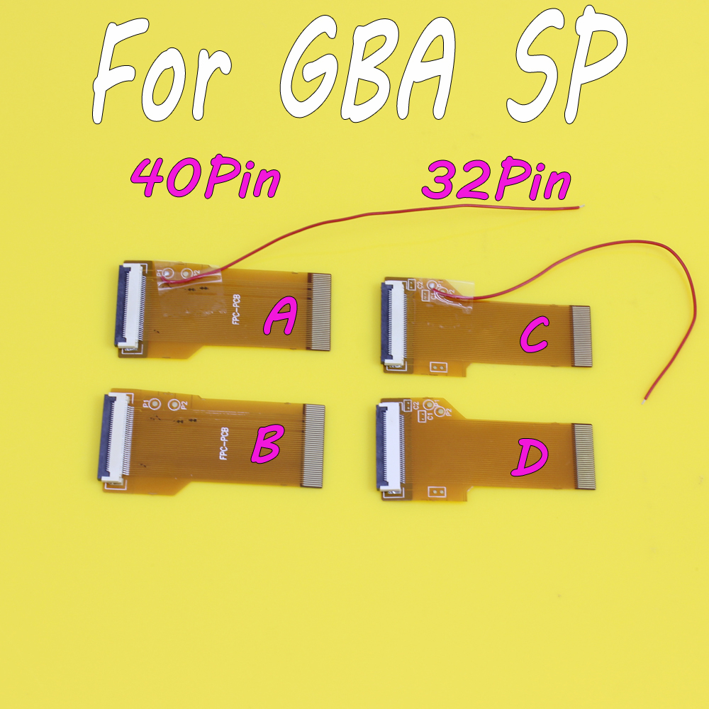 20pcs DIY Modified Highlight Version <font><b>SP</b></font> LCD Ribbon Cable backlit Ribbon Cable adapter for GBA 40pins 32PIN <font><b>AGS</b></font> <font><b>101</b></font> Mod Kit image