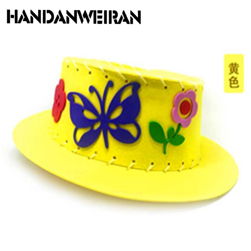 Handanweiran 2019 New Diy Enviromental-friendly3d Eva Handmade Craft Gifts Kits Hat Craft Toys For Children Wholesale+retail Hot Tool Organizers