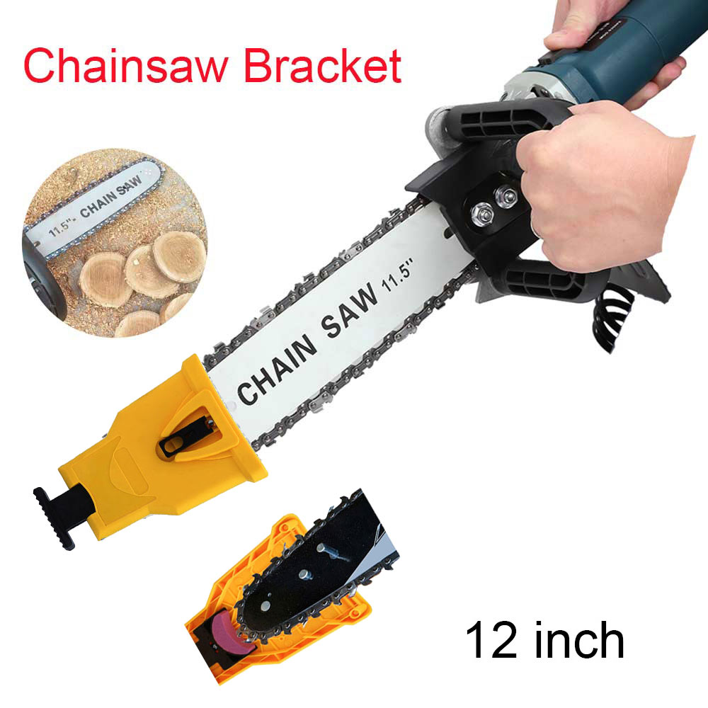 Electric Saw Parts 12 Inch M10 Chainsaw Bracket Changed 100 115 Angle Grinder Into Chain Saw Chainsaw Teeth Sharpener