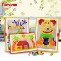 592pcs Creative Mosaic Toy Gifts Children Nail Composite Picture Puzzle Jigsaw Creative Mosaic Mushroom Nail Kit Puzzle Toys
