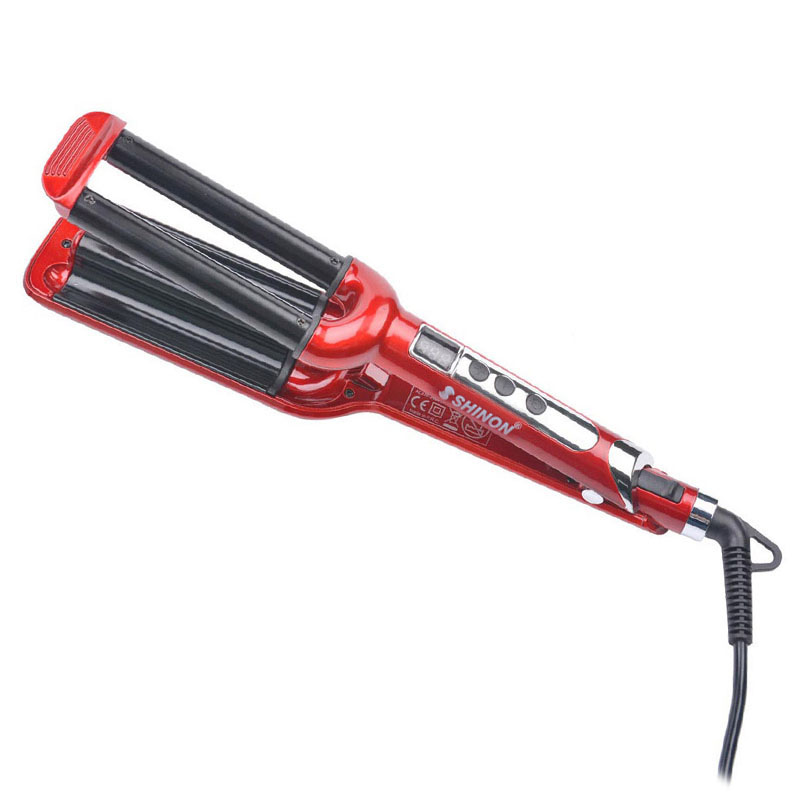 16mm Ceramic Deep Wave Curler Hair Waver Hair Styler Triple Barrel Rollers Curls DIY Salon Styling Tools Hair Curling Iron 5152 fmk tourmaline ceramic styler hair waver curler roller 3 barrel wavers hair styling tools hair curling iron crimper tongs ht020a