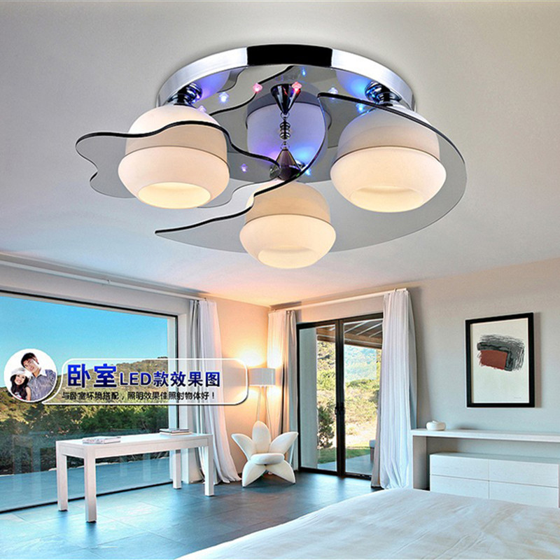 Room Crystal Star Moon Child Lamp Cartoon Bedroom LED Ceiling Lamp Creative Household Lamp