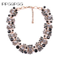 2016 New Hot Black Collar Statement Necklaces Pendants Collier Choker Big Vintage Maxi Chunky Necklace Jewelry
