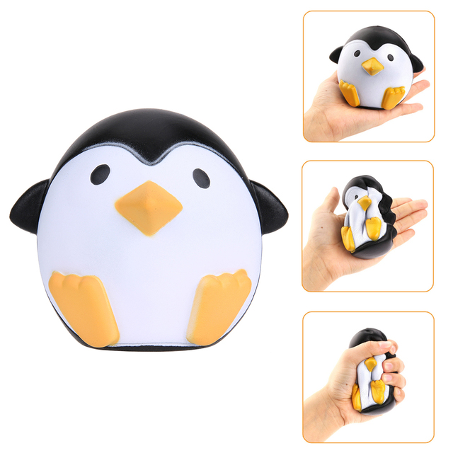 Lovely Soft Squishy Penguin Toy Doll Cute Animal Slow Rising Sweet Scented Vent Charms Bread Fun Grab Scratch Squishy Doll Toy