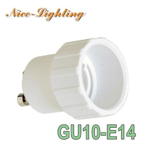 10pcs/lot GU10-E14 Lamp Holder Converter Bayonet Socket GU10 to E14 Lamps Holder Adapter Light Bulb Plug Extender Free Shipping