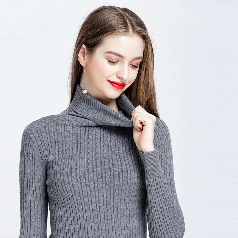 Cashmere sweater knitwear Ladies Jumper casual top Fashion Womens pullover Size