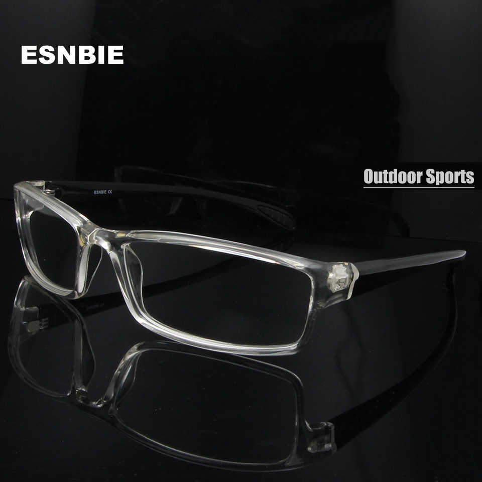 c16cee0a62d ESNBIE Mens monturas de lentes hombre Prescription Glasses TR90 Flexible  Eyeglasses Frames Men 6 Base oculos