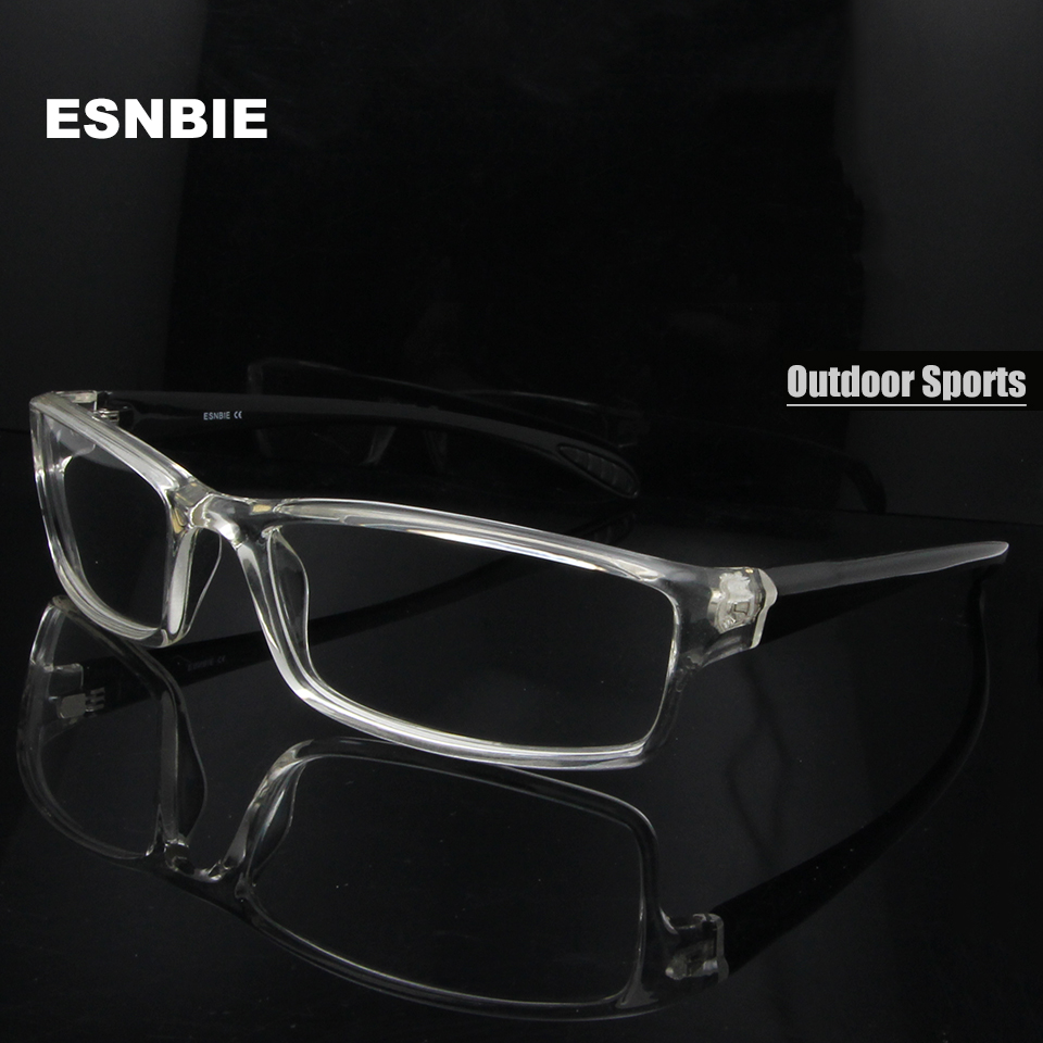 ESNBIE Mens monturas de lentes hombre Prescription Glasses TR90 Flexible Eyeglasses Frames Men 6 Base oculos de grau