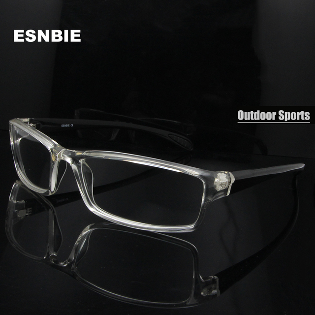 95543b4866 ESNBIE para monturas de lentes hombre gafas TR90 Flexible marcos de gafas  hombres 6 Base oculos
