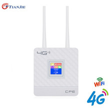 TIANJIE CPE903 4G LTE CPE Wifi Router Unlock 4G 3G Mobile Hotspot WAN/LAN Port Dual External Antennas Gateway with Sim Card Slot comfast gigabit ac authentication gateway routing mt7621 880mhz core gateway wifi project manager with 4 1000mbps wan lan port