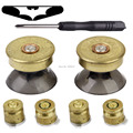 IVYQUEEN Brass Bullet Buttons Mod Kit For Sony Dualshock 4 PS4 DS4 Pro Slim Controller Analog Thumb Sticks with Action Button