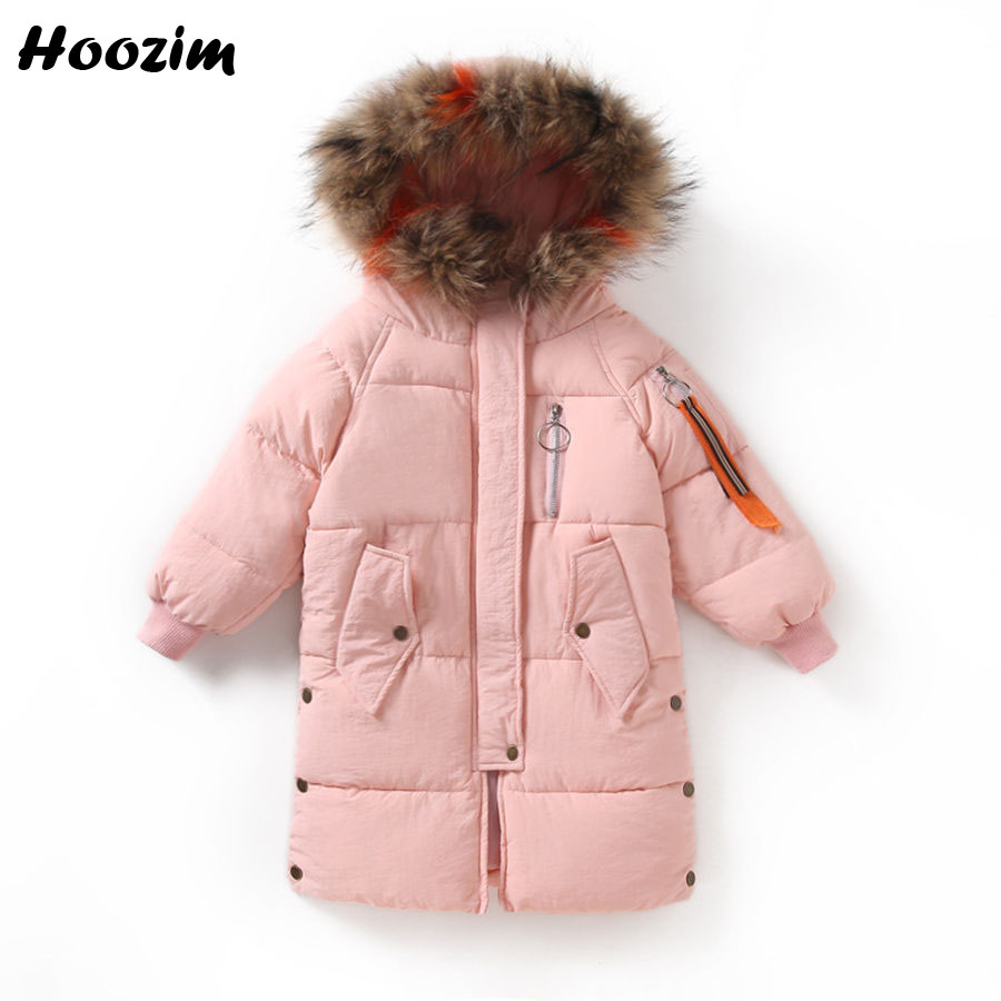 Winter Kids Outerwear Fashion Long Jacket For Girls 10 11 12 Years Embroidery Letter Parka Children Faux Fur Cap Coat For Girls embroidery letter m baseball cap