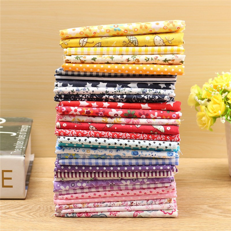Hot sale 5pcs pack colorful mixed pattern cotton fabric for Sewing material for sale