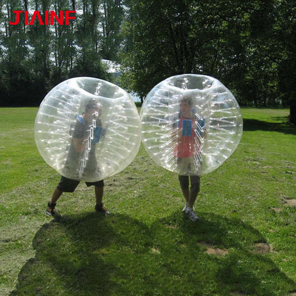 1 8m TPU Inflatable Zorb Soccer Ball 5 Color Bubble Soccer Ball Pump for Adult Family