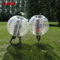 1.8m TPU Inflatable Zorb Soccer Ball 5 Color Bubble Soccer Ball / Pump for Adult Family Outdoor Game Sports Ball Toys