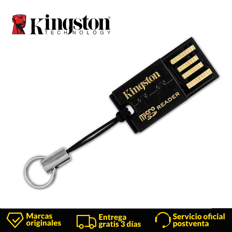 Kingston Technology FCR-MRG2 Usb Lector De Tarjetas Micro SD SDHC SDXC USB 2.0 Black Mini Flash Adaptador 25 Mm SD Card Reader