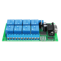 8 Channel DB9 Interface RS232 Serial Port Relay Module DC 12V PC Computer Remote Control Switch Board For Smart Home Motor